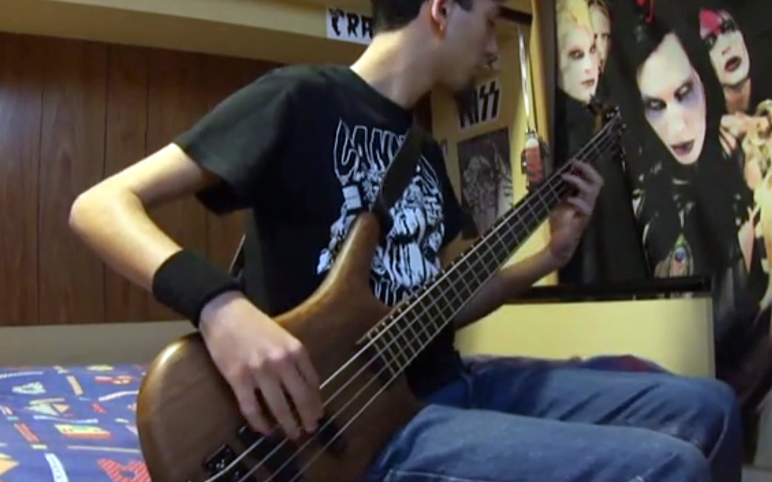 """Knockout Pills – """"Do The Skin Crawl"""" Bass Cover By Marga – Music Video"""