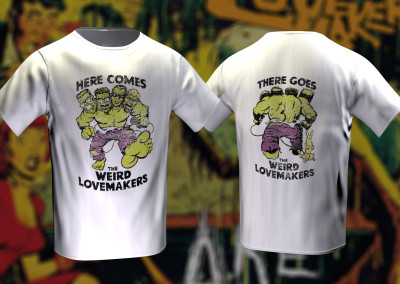 The Weird Lovemakers - Here Comes the Weird Lovemakers T-Shirt (Artwork by Nathan Dryden)