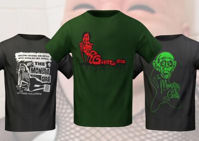 The Monster Girls - Misc T-Shirt Designs