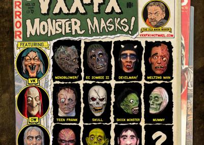VXX-FX Monster Masks - General Mask Ad - EC Comics