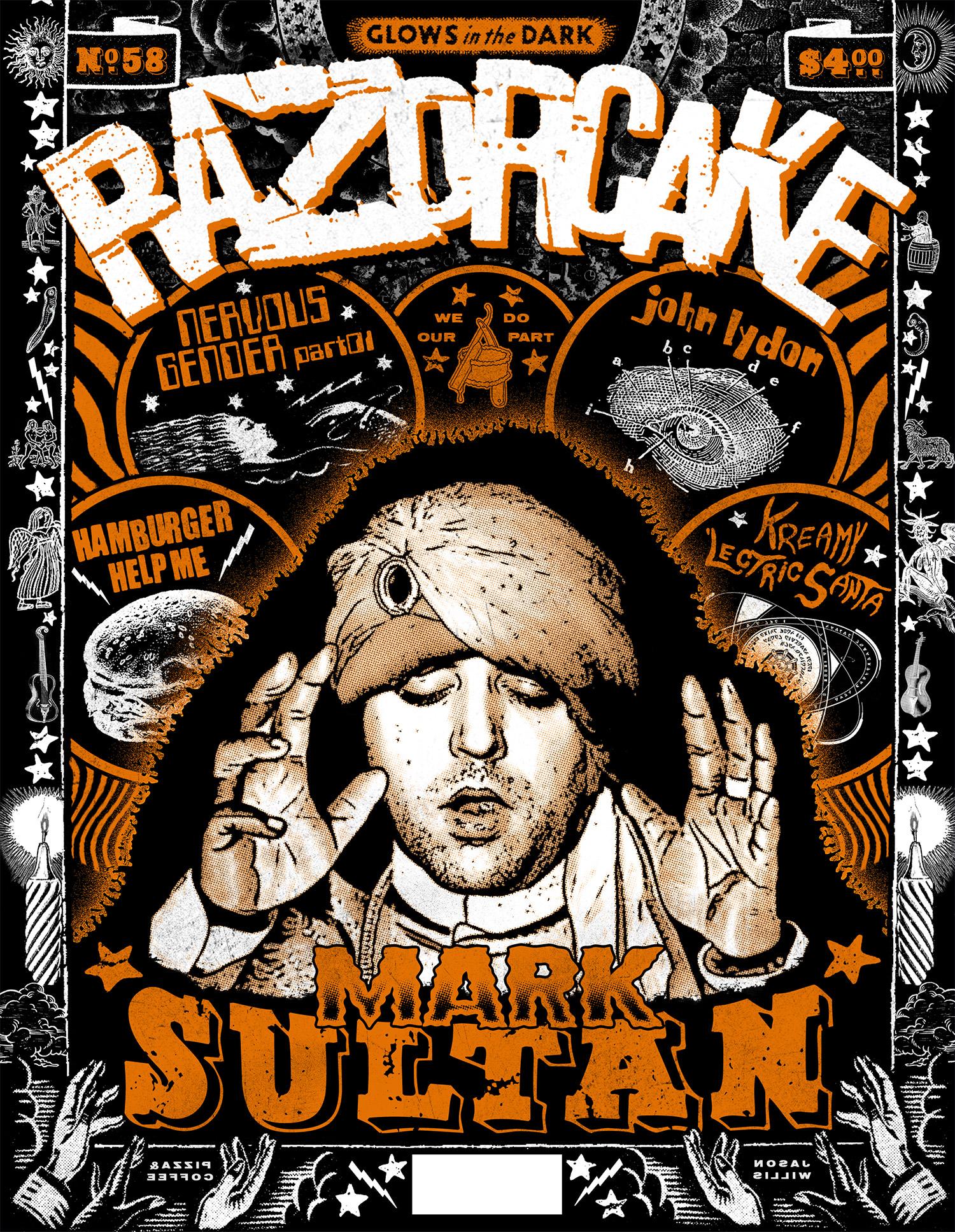 Razorcake 58 - Mark Sultan Cover - Graphic Design