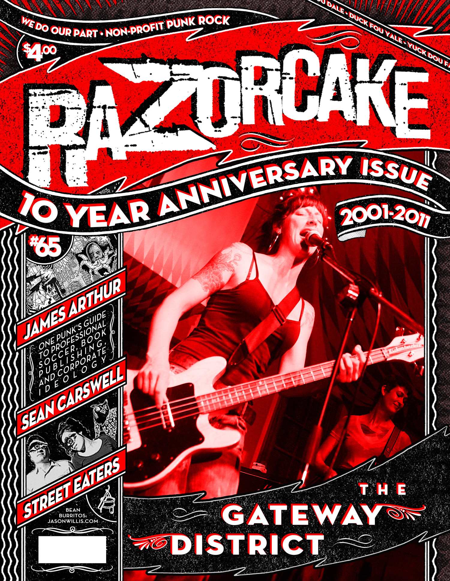 Razorcake 65 - Gateway District Front Cover - Graphic Design