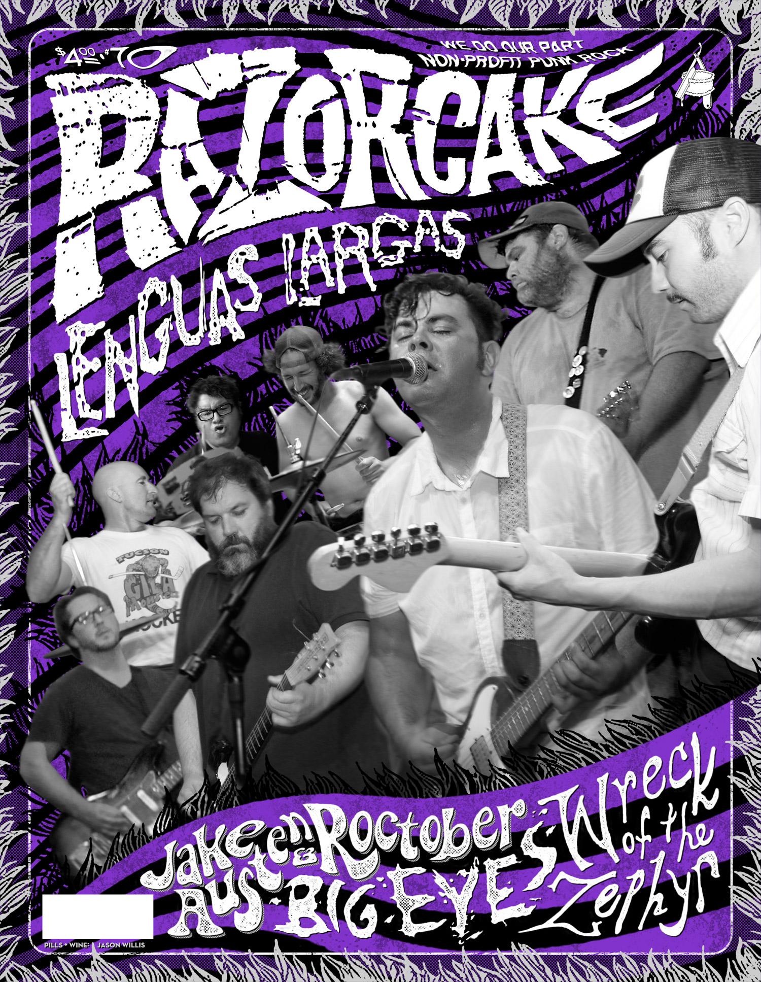 Razorcake 70 - Lenguas Largas Front Cover - Graphic Design