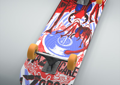 Razorcake - Skateboard Deck Design