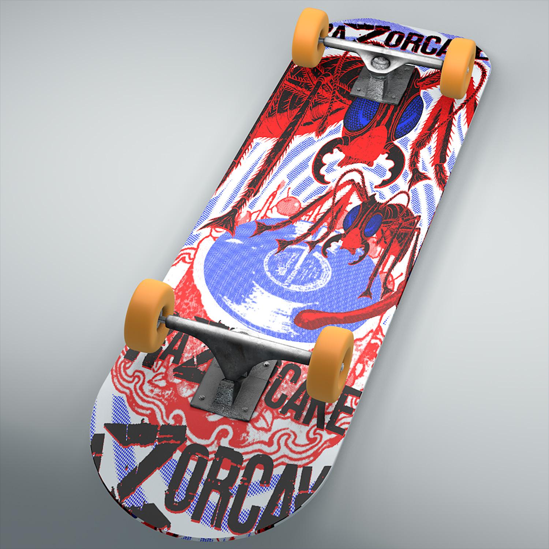 Razorcake - Skateboard Deck Design