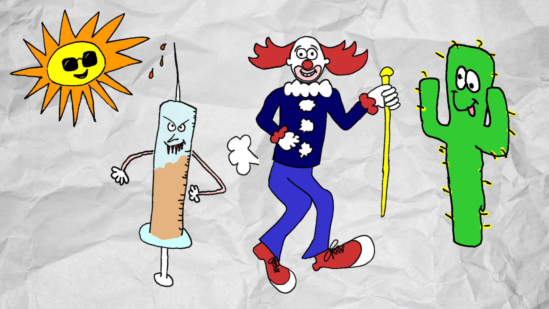 Nobunny - I Was On The Bozo Show - Separated and Colorized Characters for Animation 02