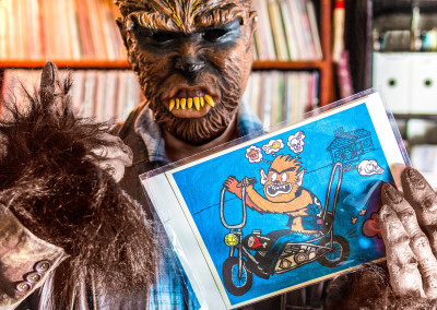 "Lycanthropic endorsement of original ""Werebiker"" print"