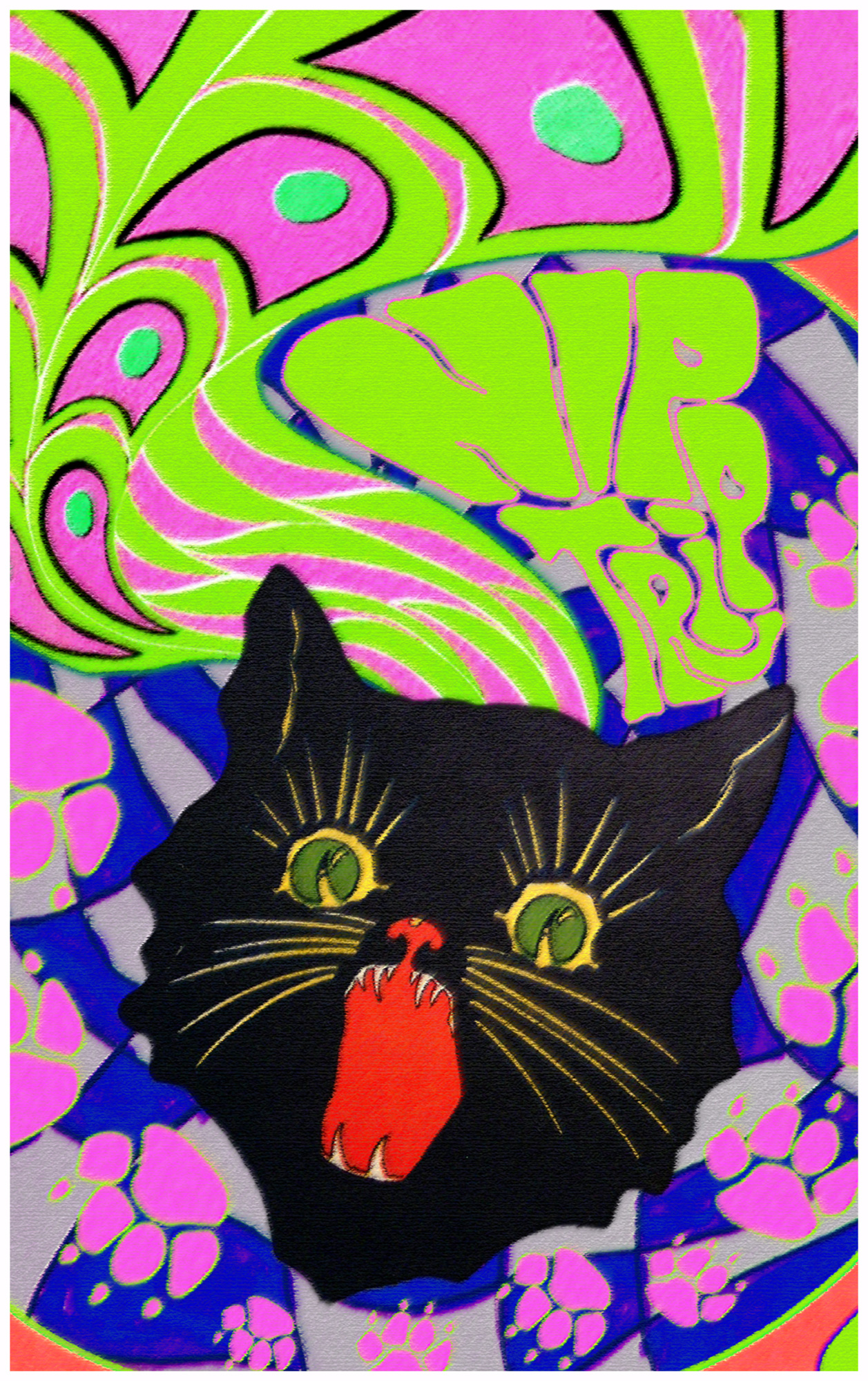 Nip Trip - Black Light Poster
