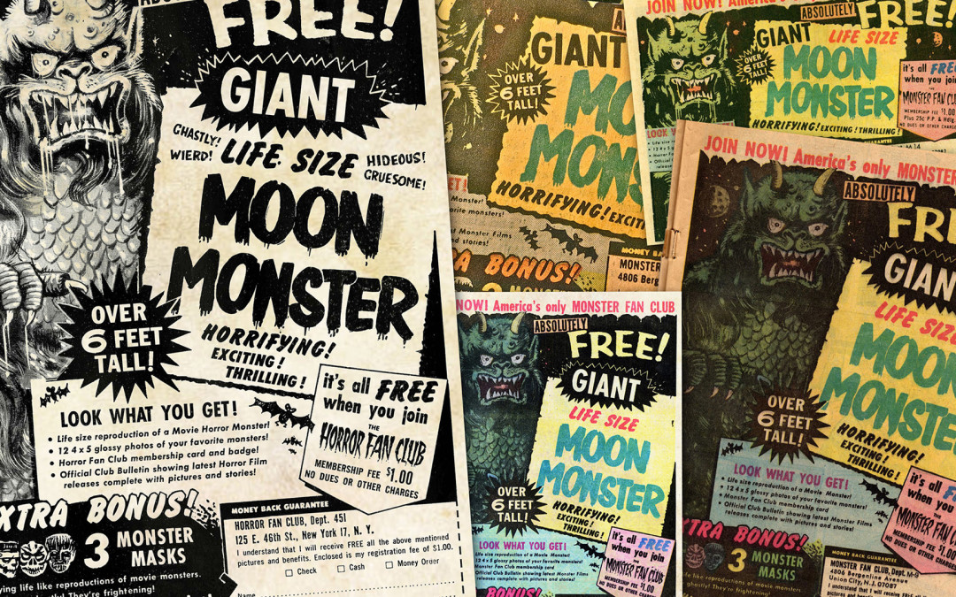 Moon Monster — Animated 1970 Comic Book Ad