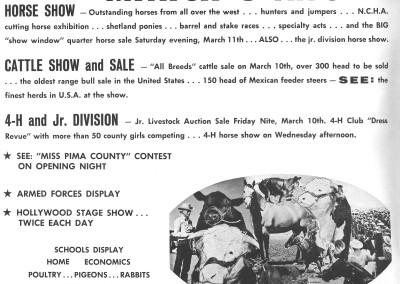 1961 Tucson Rodeo Program Inside Front Cover
