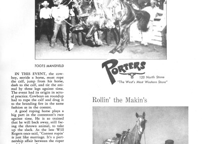 1961 Tucson Rodeo Program Page 09