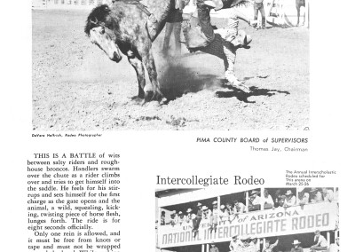 1961 Tucson Rodeo Program Page 11