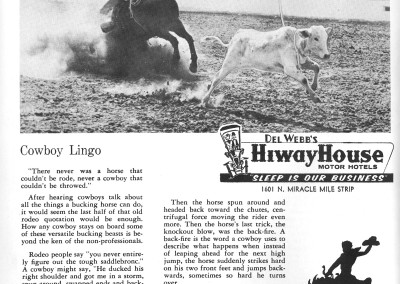 1961 Tucson Rodeo Program Page 12