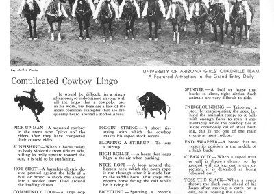 1961 Tucson Rodeo Program Page 34