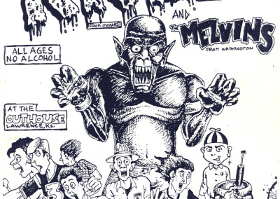 RKL with the Melvins at the Outhouse 09-02-1986 - Punk Rock Flyer Design by Jason Willis