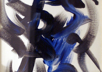 Black and Blue (Detail) - Original Painting by Cheeta the Chimpanzee (2005)