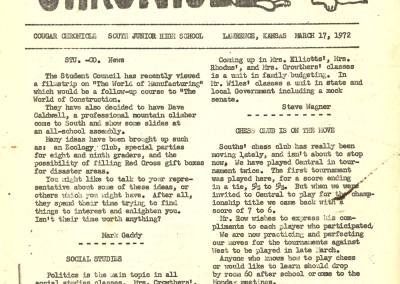 Cougar Chronicle 03/17/72 Pg 01