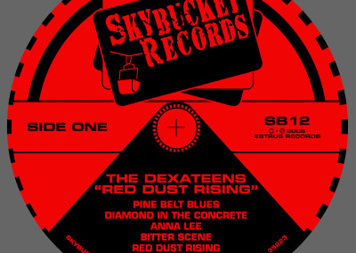 Dexateens - Red Dust Rising - LP Label (2005) by Jason Willis