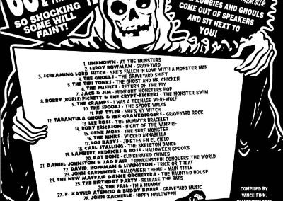 Ghoul-Arama CD Back (Scar Stuff, 2001) by Jason Willis