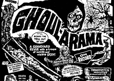 Ghoul-Arama CD Front (Scar Stuff, 2001) by Jason Willis