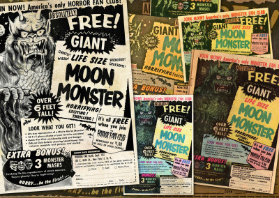 Moon Monster Ad Collage