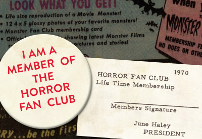 Moon Monster Badge and Fan Club Membership Card