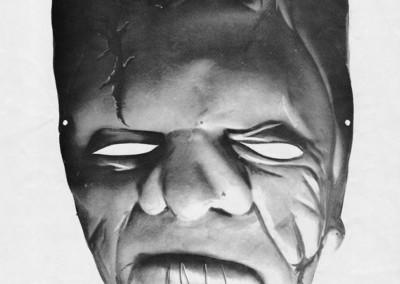 Moon Monster paper Frankenstein mask