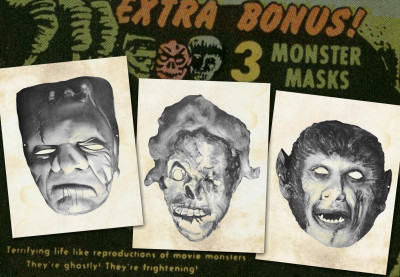Moon Monster paper masks