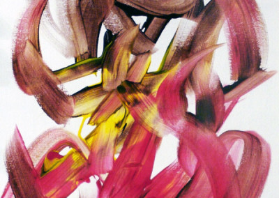 Red, Yellow and Brown (Detail) - Original Painting by Cheeta the Chimpanzee (2005)