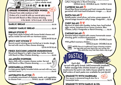 Rocco's Little Chicago Pizzeria - Menu 05 by Jason Willis