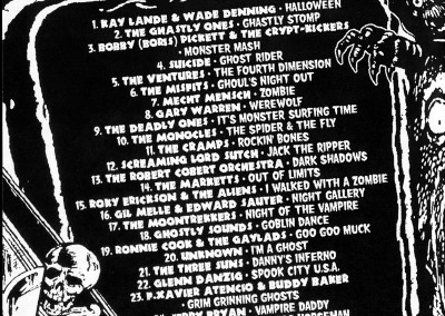 Spook Party CD Back (Scar Stuff, 2000) by Jason Willis