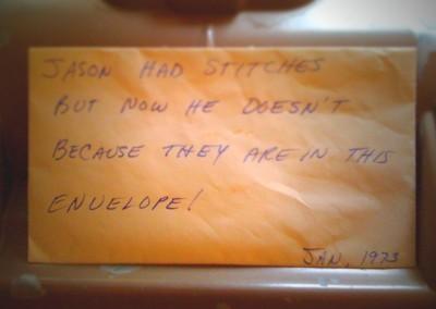 Stitches, 1973 by Jason Willis