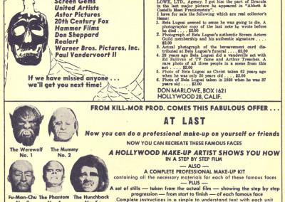 Vintage Monster Magazine Ad 16