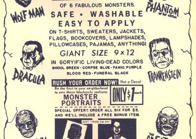 Vintage Monster Magazine Ad 25