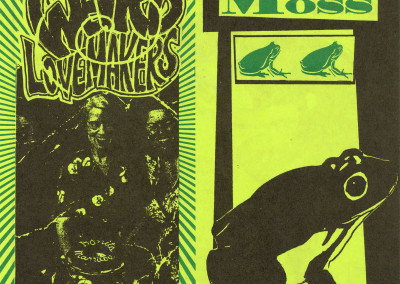 Weird Lovemakers / A Band Called Moss - Split Single Front Cover (Ghost Town, 1994)