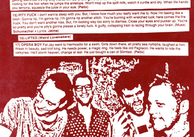 Weird Lovemakers - Back 20 - CD Booklet Page 03 (Star Time, 2000)