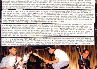 Weird Lovemakers - Flu Shot - CD Booklet Page 04 (eMpTy Records, 1998)