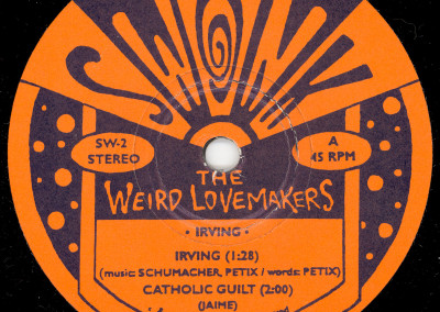 Weird Lovemakers - Irving Single - Label 01 (Swonk, 1995)