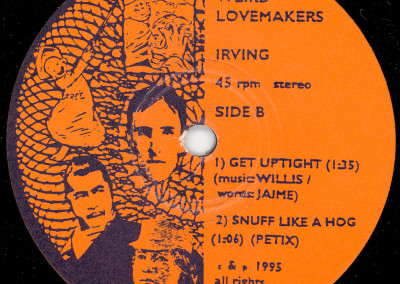 Weird Lovemakers - Irving Single - Label 02 (Swonk, 1995)