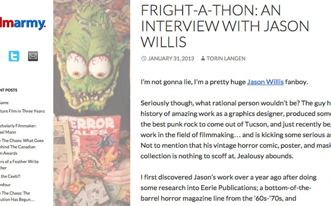 Interview: Fright-A-Thon Interview at Film Army