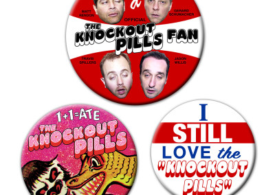 Knockout PIlls -Tour Buttons - 01 by Jason Willis