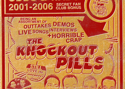 Knockout Pills - Odds & Wads: 2001-2006 - CD Booklet Front (2006) by Jason Willis