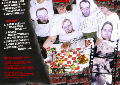 Knockout Pills - S/T LP Back (2003) by Jason Willis