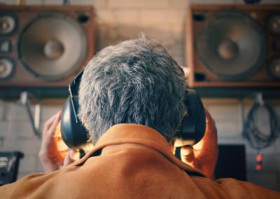 Matt Rendon Recording at Midtown Island - Photo by Winston Henning