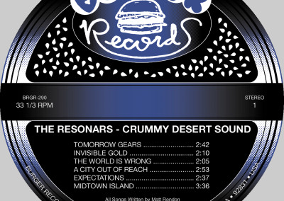 Resonars - Crummy Desert Sound - LP Label 01 (Burger, 2012)