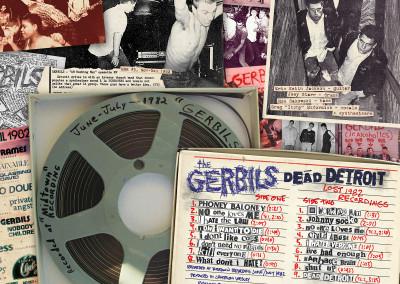 """The Gerbils - """"Dead Detroit - Lost 1982 Recordings"""" - LP Cover Back"""