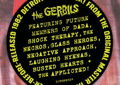 """The Gerbils - """"Dead Detroit - Lost 1982 Recordings"""" - LP Front Cover Sticker"""