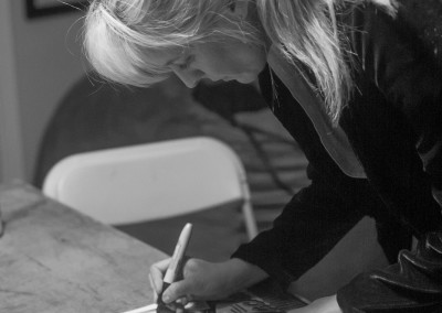 Stand Up Comedy Living Room Show - Maria Bamford Signing Posters 02