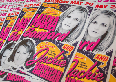 Maria Bamford and Jackie Kashian Stand Up Comedy Poster Design - Detail 04