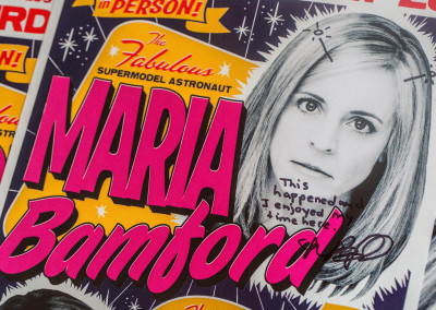 Maria Bamford and Jackie Kashian Stand Up Comedy Poster Design - Maria's Signature